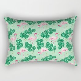 Flamingo Friends Rectangular Pillow