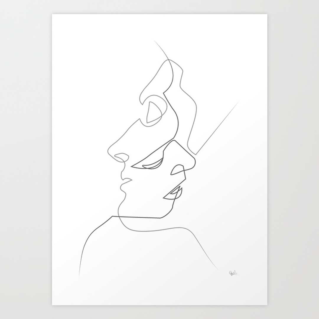 Drawing Lines Using Canvas : Love art prints society