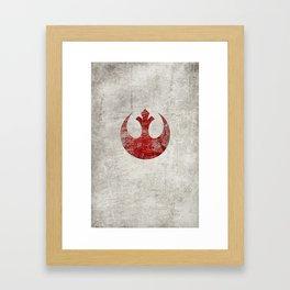 StarWars Rebel Alliance (Red) Framed Art Print