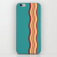 bacon iPhone & iPod Skins featuring Bacon by Jiro Tamase