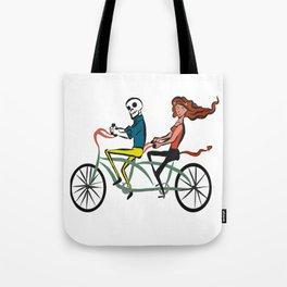 Calavera and Diablita in tandem Tote Bag