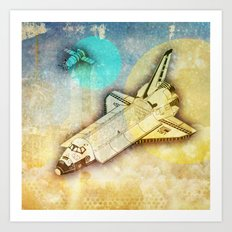 Lost in space _ Tribute to space tarvel Art Print