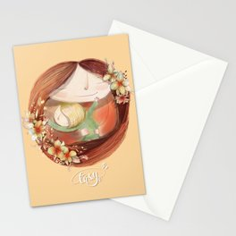 Mother love you and me Stationery Cards