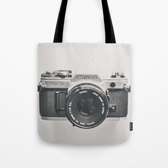 Vintage Camera Phone Tote Bag