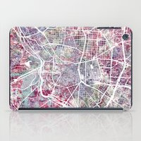 madrid iPad Cases featuring Madrid map by MapMapMaps.Watercolors