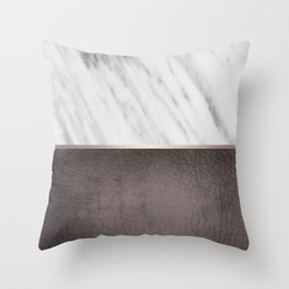 Manly Carrara Italian Marble Throw Pillow