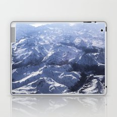 White mountains with snow winter nature Laptop & iPad Skin