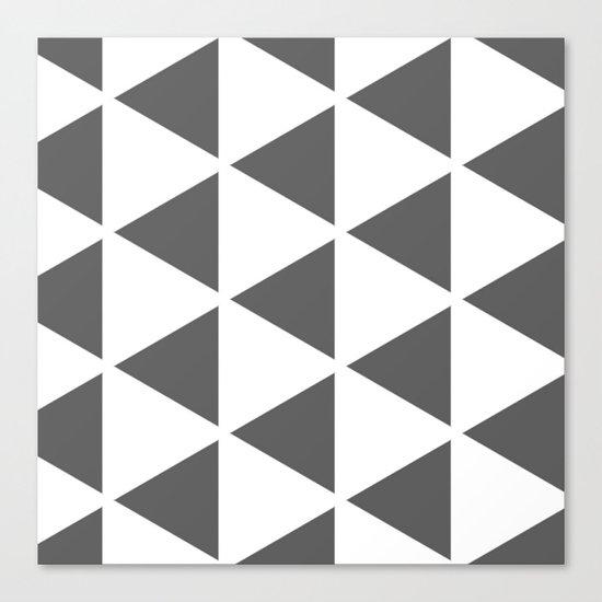 Sleyer Dark Grey on White Pattern Canvas Print