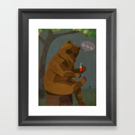 Mrs. Bear Framed Art Print