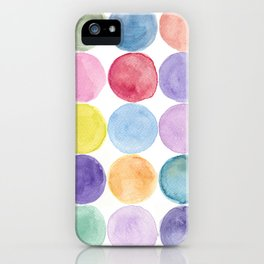 dotted and well organized iPhone Case