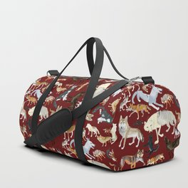 Wolves of the world Red Version Duffle Bag