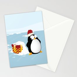 Suspicious penguin Stationery Cards