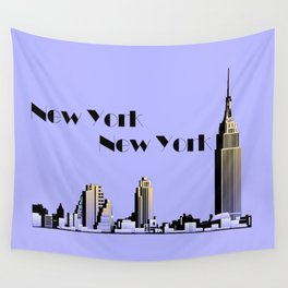 New York New York skyline retro 1930s style Wall Tapestry