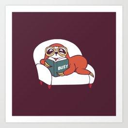 Busy  Sloth Art Print