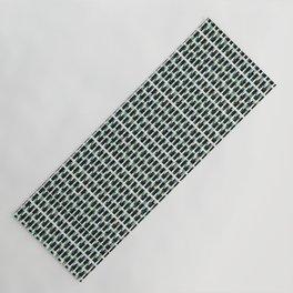 Black And Khaki Pixelated Pattern Yoga Mat