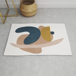 Blue and Yelow Shapes II Rug