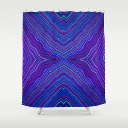 Abstract #9 - IX - Brilliant Blue Shower Curtain