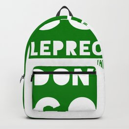 St Patrick's Day Leprechaun Ireland Gift Backpack