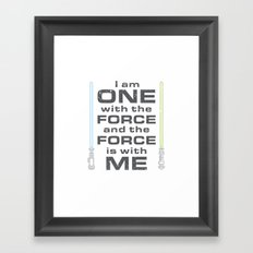 Force is with Me - Both Framed Art Print