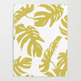 Simply Mod Yellow Palm Leaves Poster