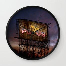 Trump Billboard Outside Blue Wave City Wall Clock