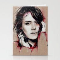 sarah paulson Stationery Cards featuring Sarah by marziiporn