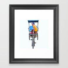 Cycle Wala, Jaipur. India Framed Art Print