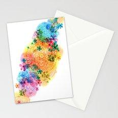 rainbow mandala cloud Stationery Cards