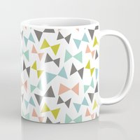 bows Mugs featuring Spring bows by Demi Goutte