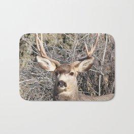 Watercolor Deer, Mule 22, Crestone, Colorado, Southern Colorado Splendor Bath Mat