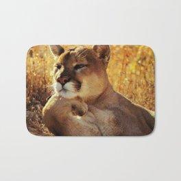 The Golden Thinker 🐾 Cougar 🐾 Bath Mat