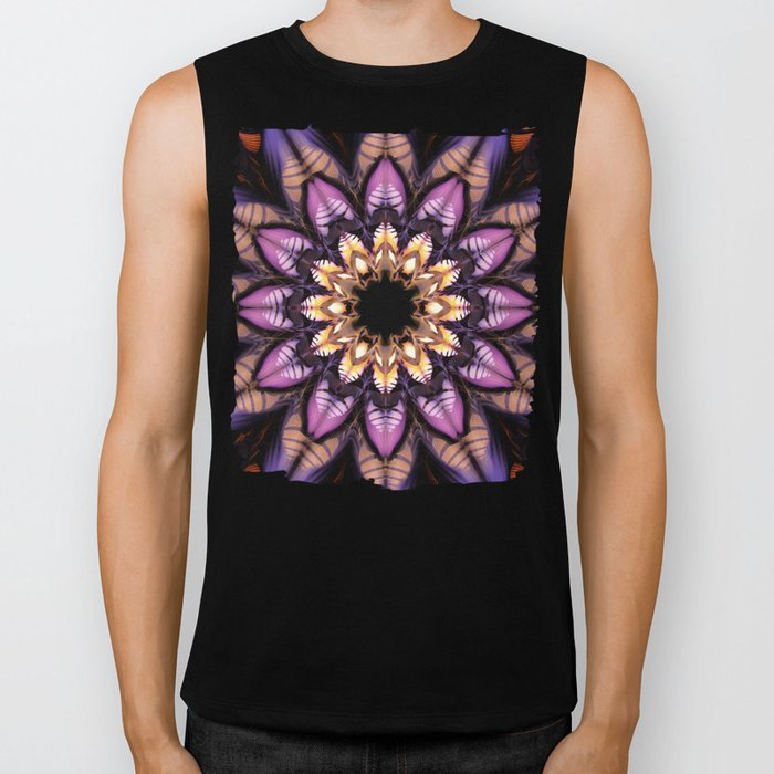 Artistic fantasy flower Biker Tank
