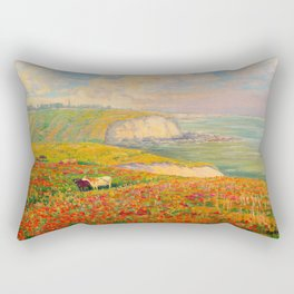 Václav Radimský (1867-1946) Normandy coast in bloom Impressionist Landscape Painting Bright Colors Rectangular Pillow