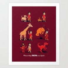 Please Keep Pets on a Leash Art Print