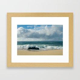 Hookipa Beach Pacific Ocean Waves Maui Hawaii Framed Art Print