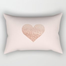 ROSEGOLD HEART BLUSH Rectangular Pillow