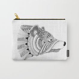 Wolf Zentangle Design Carry-All Pouch