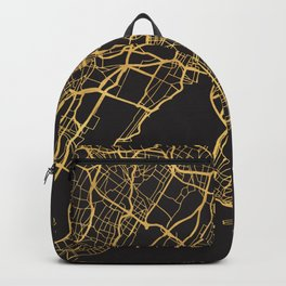 NEW YORK CITY GOLD ON BLACK CITY MAP Backpack
