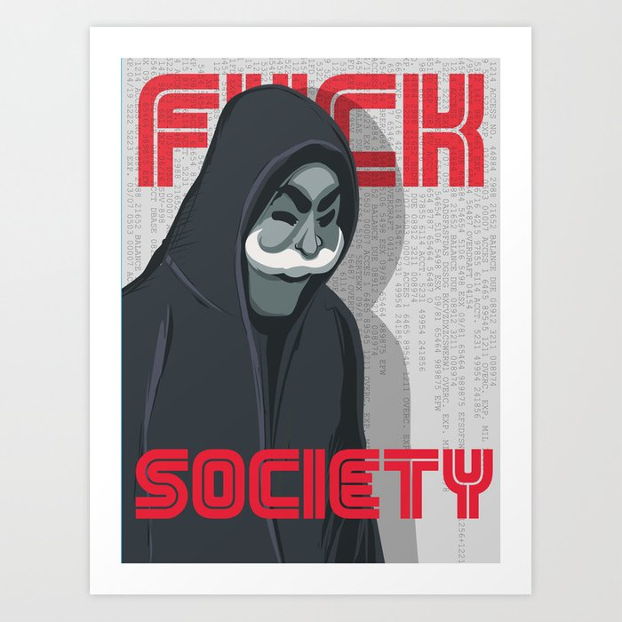 Mr Robot alternate print Art Print