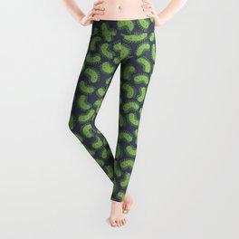 Green Bacteria Pattern Leggings