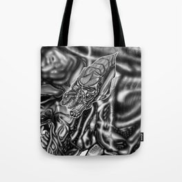 Feral Greyscale - Giger Tribute Tote Bag