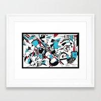kandinsky Framed Art Prints featuring KANDINSKY TRIBUTE by DavidePerroneDAHM