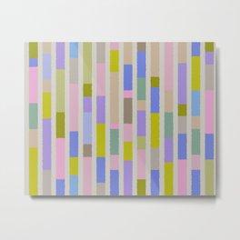 Pastel colored blocks Metal Print