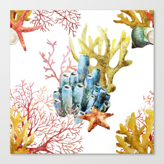 Sea Life Pattern 11 Canvas Print