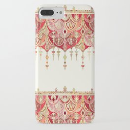 Royal Red Art Deco Double Drop iPhone Case