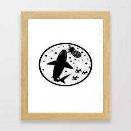 Pineapple Shark Framed Art Print