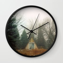 Triangle in the Woods Wall Clock