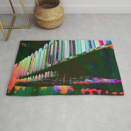 Dominos in the Sky with Rainbows Rug