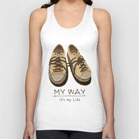 shoes Tank Tops featuring Shoes, by pexkung