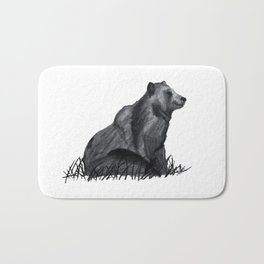 sitting bear Bath Mat